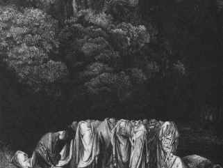 Image from first reduction book: gathered cloaked figures