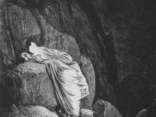 Image from first reduction book: spirit resting against a rock